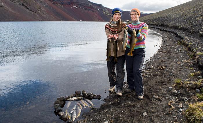 Ljótipollur er eitt besta veiðivatnið sunnan Tungnaár. Þar er eingöngu urriði um 1-4 pund að þyngd.