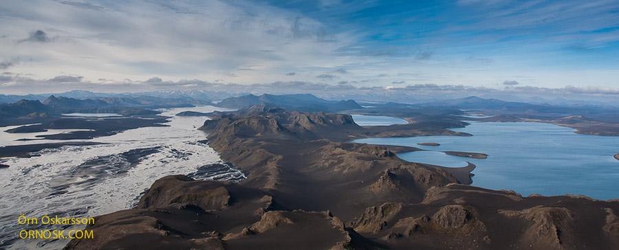 Snjóöldufjallgarður, Tungnaá og Litlisjór